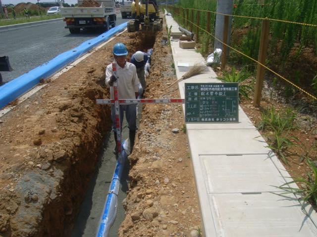 本管工事 給水管敷設工事イメージ02